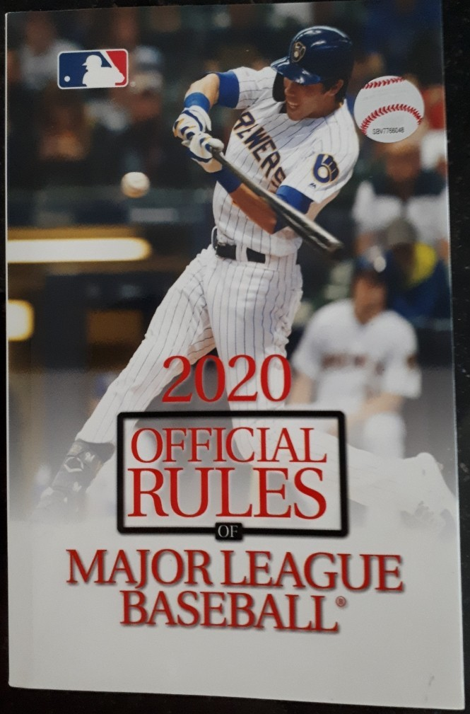 Official Baseball Rules 2020 cover