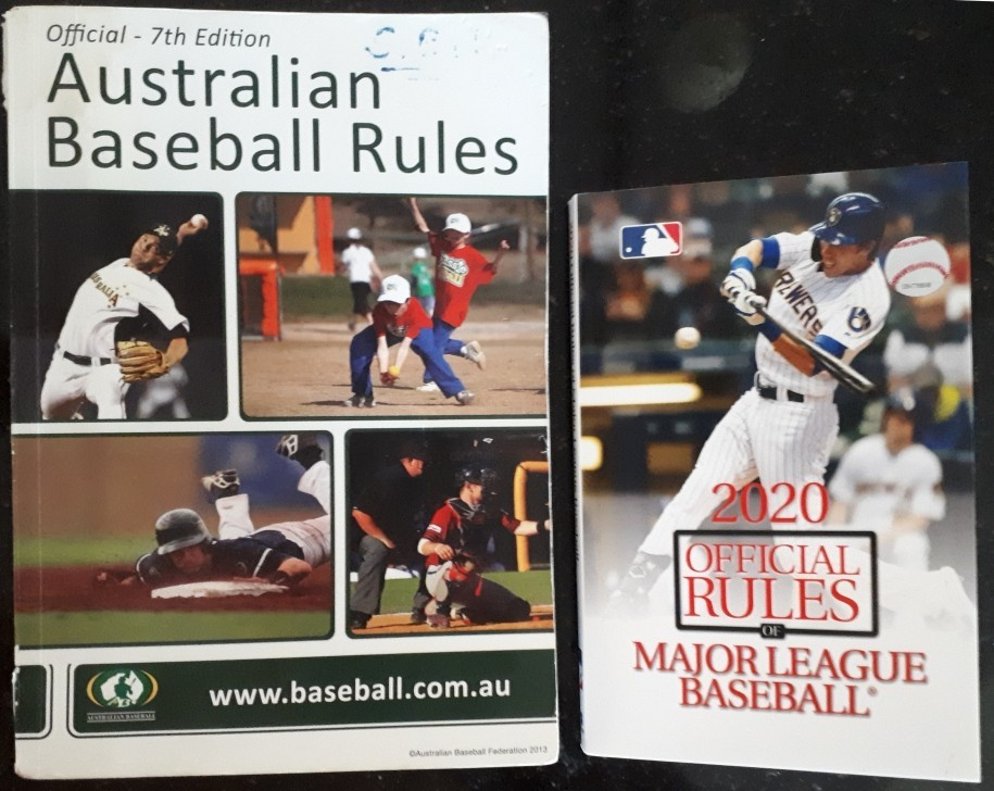 Compare Official Baseball Rules book 7th Edition and 2020 version